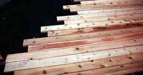 decking attaching cedar deck boards diy deck plans