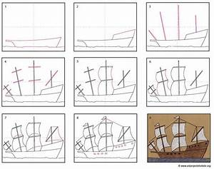 Draw A Mayflower Ship