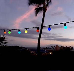 50 indoor dry outdoor multi color led globe ball string With outdoor string lights with black cord