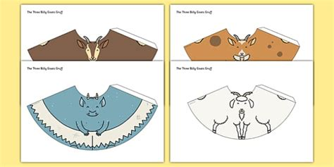 cone template twinkl the three billy goats gruff cone characters cone characters