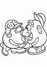 Batata Cabeca Coloring Potato Mr Head Colorir Template Wife Beijando Sra Sr Bulkcolor Kiss Toy sketch template