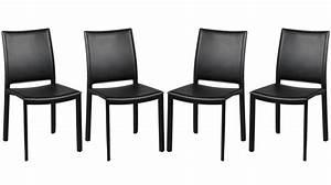 Lot De Chaise Pas Cher : chaises en pvc noir design 4 chaises design pas cher ~ Teatrodelosmanantiales.com Idées de Décoration