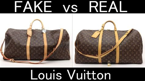 fake  real louis vuitton monogram keepall bandouliere  youtube