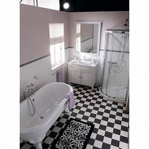 carrelage noir et blanc cuisine With carrelage damier noir et blanc salle de bain