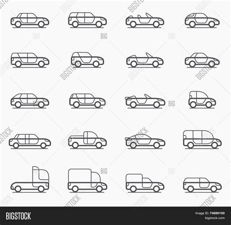 Car Body Types Icons Vector & Photo