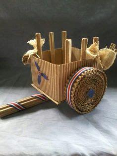 marimba tipica hecha con carto reciclado manualidades reciclado faroles y setiembre