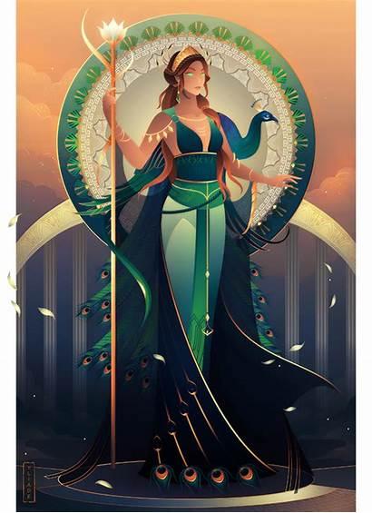 Greek Deviantart Mythology Hera Goddess Gods Yliade