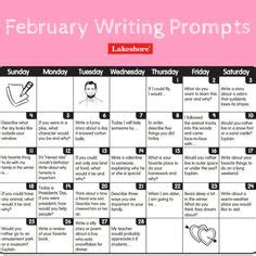 free printable march writing prompts calendar for journal writing or writing center