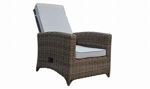Fauteuil En Resine : fauteuil de jardin dossier r glable en r sine tress e et coussin blanc ~ Teatrodelosmanantiales.com Idées de Décoration