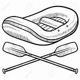 Raft Rafting Whitewater Paddle Paddles Crossed Illustration Drawing Sketch Canoe Doodle Vector Doodles Insignia River Getdrawings Drawings Clip Depositphotos Shutterstock sketch template