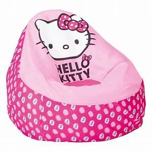 Chambre Hello Kitty : chambre enfant pouf hello kitty comforium ~ Voncanada.com Idées de Décoration