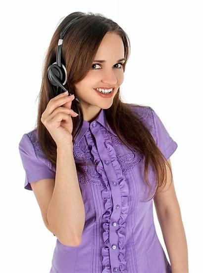 Listening Headset Woman Wearing Transparent Pngpix Female