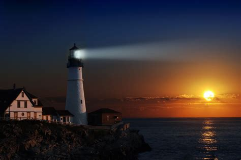 The Lighting House by Early Morning Showers We Are The Light Of The World
