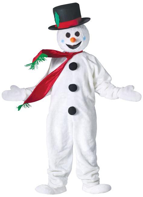 snowman mascot costume christmas