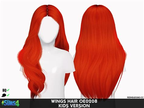 sims  hairs coupure electrique wings oe hair