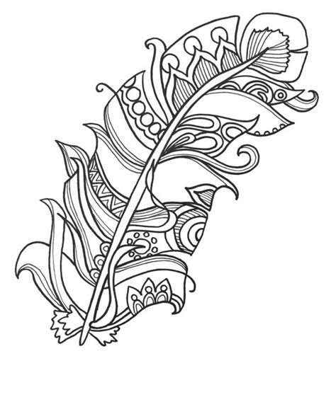 fun  funky feather coloringpages original art coloring