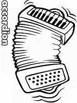 Coloring Pages Accordion Advertisement sketch template