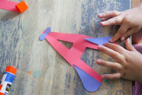 airplane letter craft letter  craft  kids
