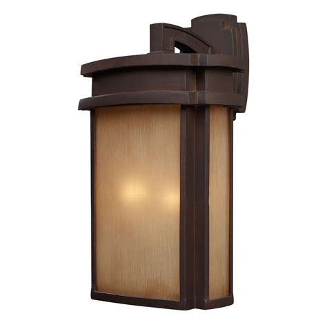 outdoor wall light with beige cream glass in clay bronze