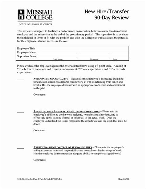 90 Day Probationary Period form Luxury Best S Of 30 Day Probation Letter Template 30 Day in 2020