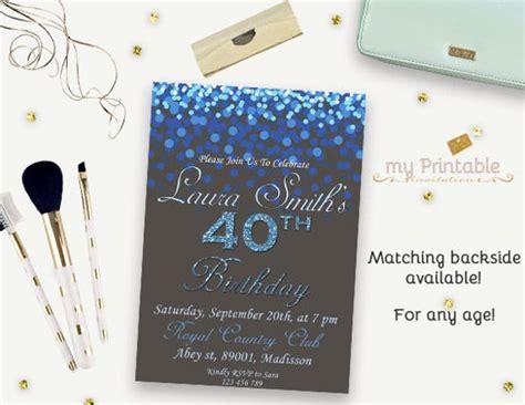 16+ 40th Birthday Invitations PSD Vector EPS AI Free