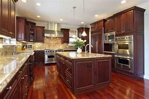 cherry wood kitchen island 23 cherry wood kitchens cabinet designs ideas designing idea