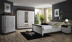 Massivholz Schlafzimmer Set 5teilig Komplett Kiefer Massiv