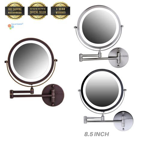 ovente mfw85 8 5 inch battery operated led lighted wall vanity mirror new ebay