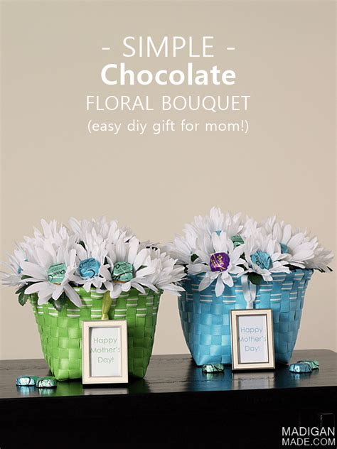 easy mothers day gift chocolate bouquet diy gifts