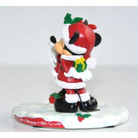 mickey and minnie mouse christmas gift figurine