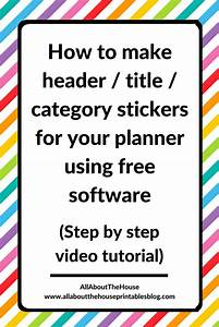 how to make your own custom erin condren or any planner With create your own stickers free