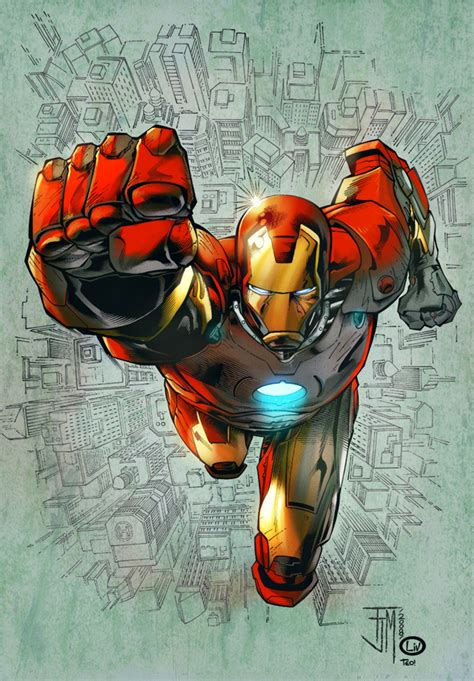 Iron Man Artwork by Amazing Iron Man Illustrations