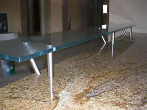 Glass Bar Top Counter :: Floating Kitchen Counter