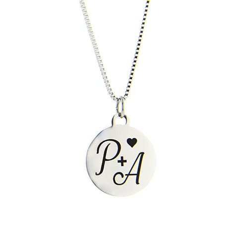 Heart Initial Charm Necklace in LDS Charm Necklaces on ...