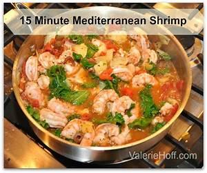 15 Minute Easy Mediterranean Shrimp -Valerie Hoff