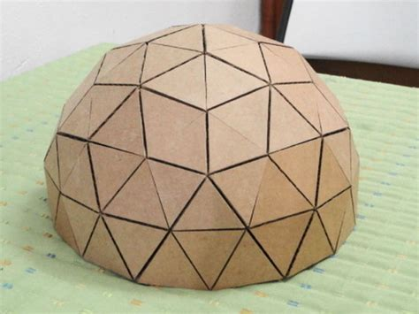 Geodesic Dome Template by How To Make A Geodesic Dome S Scale Model With Cardboard