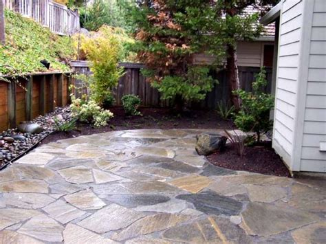 marvelous patio options 11 flagstone in concrete