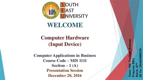 Computer Applications In Business_computer Hardware
