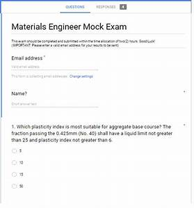 Dpwh Accredited Contractors Materials Engineer  Material Engineer Mock Exam 1