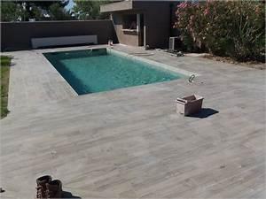 Carrelage Terrasse Gris : carrelage gris terrasse piscine maison et mobilier ~ Nature-et-papiers.com Idées de Décoration