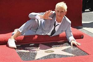 Ellen Degeneres gets a star on Hollywood walk of fame