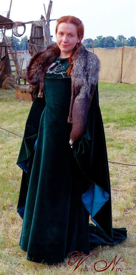 Game Of Throney Sansa Stark Season 6 Velvet Dress Cosplay