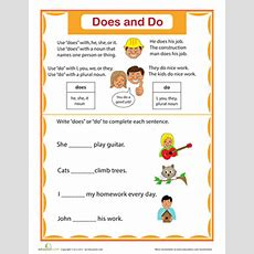 Simple Verbs Does And Do  Worksheet Educationcom