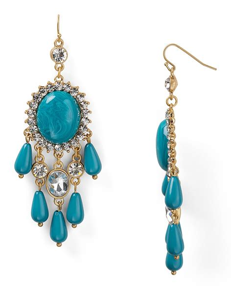 turquoise chandelier earrings aqua turquoise chandelier earrings bloomingdale s