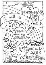 Rainbow Coloring Promise Brownie Activities Pages Rainbows Girlguiding Scout Guides Sheet Crafts Brownies Badge Daisy Colouring Think Badges Others Camping sketch template