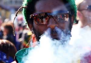 Jamaican Rastafarian Smoking Weed