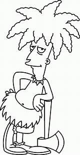 Simpsons Coloring Simpson Bob Sideshow Dibujos Printable Actor Desenhos Marge Dos Secundario Homer Pintar Characters Bart Malvorlagen Lisa Colorear Zeichnen sketch template