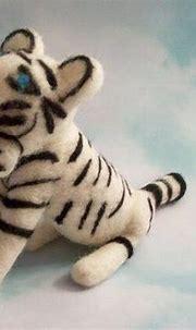 White Tiger, Tiger Figure, Felted Animal, Handmade Gift ...