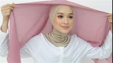 tutorial terbaru   mudah hijab segi empat