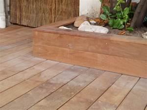 Terrasse Avec Muret : lattes de terrasse en bois exotique ~ Premium-room.com Idées de Décoration
